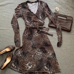 CAbi Faux Wrap Mini Dress